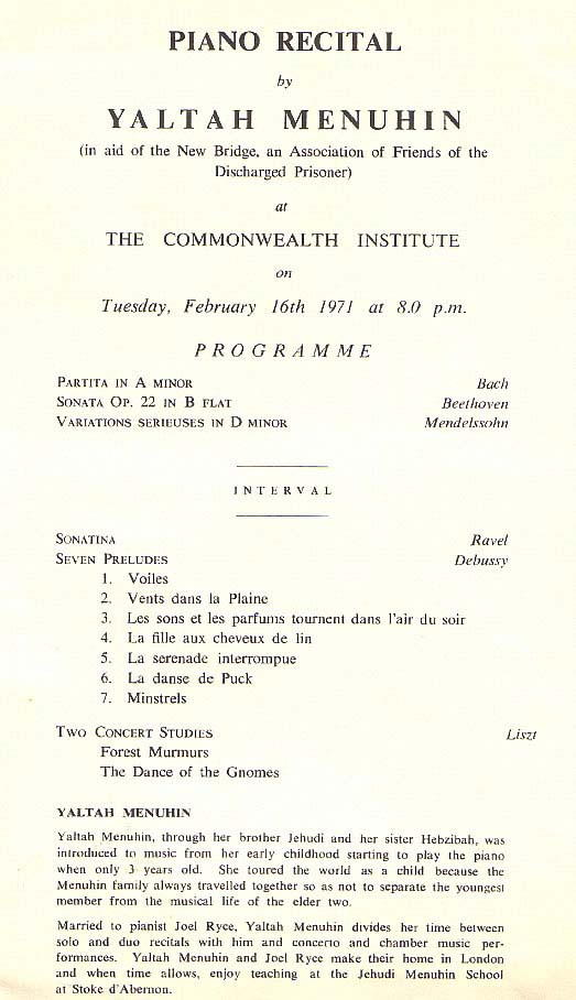 16 February 1971, London, U.K.
