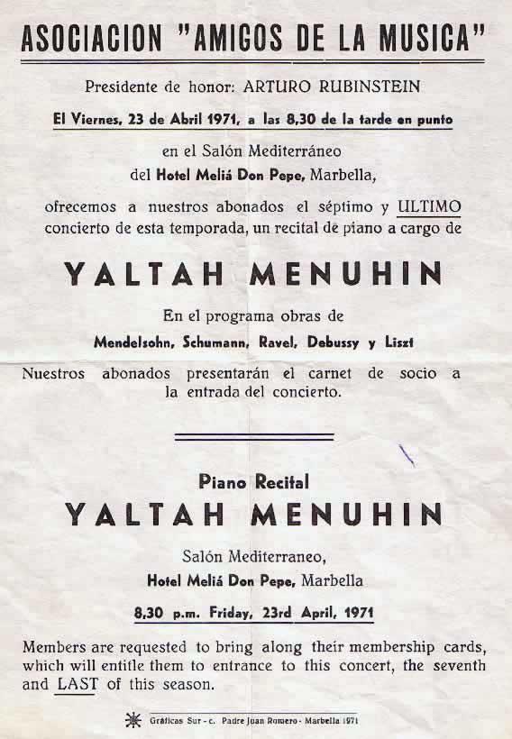 23 April 1971, Marbella, Spain